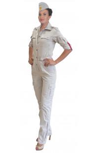 2014 Комбинезон полетный женский твил серо-бежевый