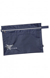 Папка сувенирная с вышивкой СУ-30СМ кордура синий