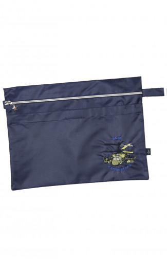 Папка сувенирная с вышивкой КА-52 Аллигатор кордура синий