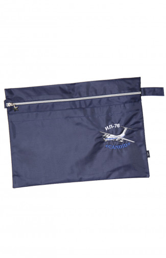 Папка сувенирная с вышивкой ИЛ-76 кордура синий