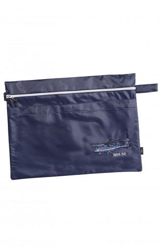 Папка сувенирная с вышивкой МИ-38 кордура синий