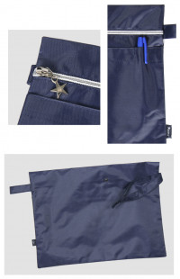 Папка сувенирная с вышивкой МИ-8 кордура синий