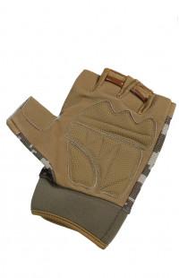 Перчатки тактические без пальцев камуфляж