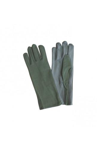 Перчатки летные из огнестойкой ткани олива