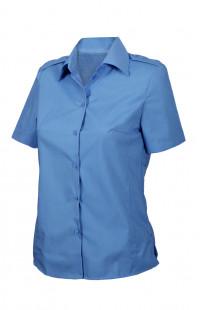 Блузка женскаяс короткимрукавом голубая
