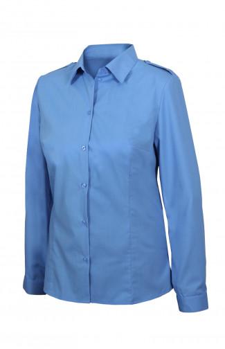 Блузка женскаяс длинным рукавом голубая
