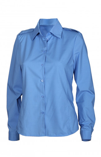 Блузка женскаяс длиннымрукавом голубая