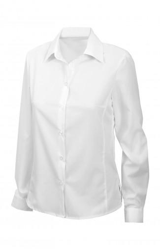 Блузка офиснаяс длиннымрукавом белая