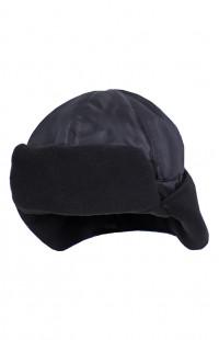 Шапка-шлем утепленная флисом оксфорд черный