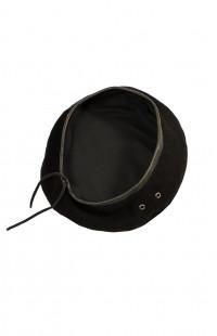 Берет на завязках уставной форменный сукно черный