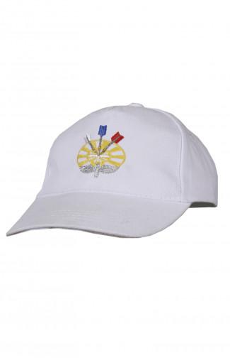 Бейсболка с вышивкой Авиадартс х/б белый