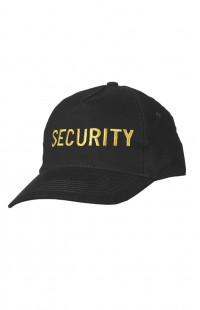 Бейсболка классик с вышивкой Security х/б черный