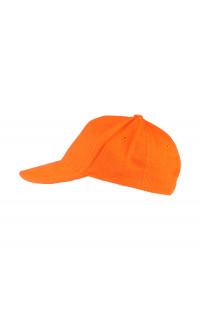 Бейсболка плотная велюр оранжевый
