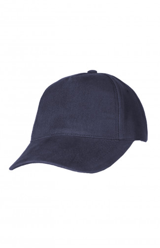 Бейсболка плотная велюр темно-синий