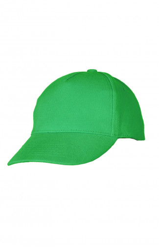 Бейсболка плотная велюр зеленый