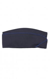 Пилотка форменная п/ш синий с кантом
