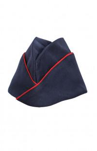 Пилотка форменная п/ш синий с красным кантом