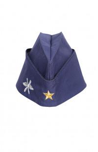 Пилотка ВВС с вышитой звездой рип-стоп синий