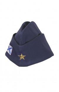 Пилотка форменная с вышивкой ВМФ рип-стоп синий