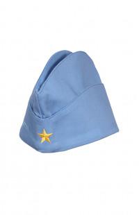 Пилотка форменная детская с вышивкой Я - юный гражданин России твил голубой