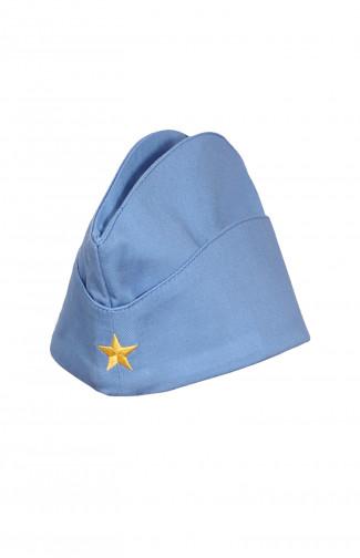 Пилотка форменная детская твил голубой