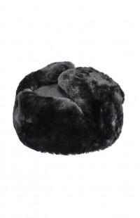 Шапка-ушанка нат.мех/сукно черный