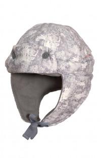 Шапка утепленная для охоты Локкер серо-белый камуфляж