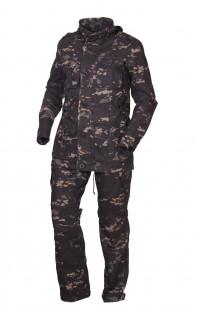 Костюм тактический рип-стоп черный камуфляж