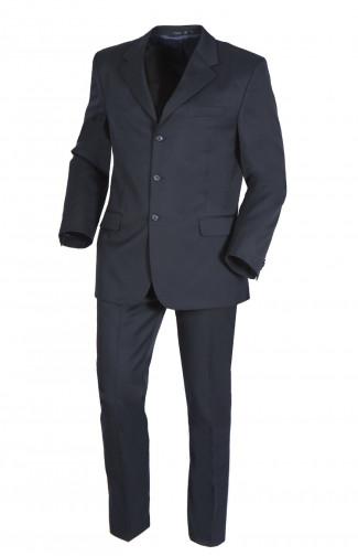 Костюм классический офисный мужской п/ш темно-синий