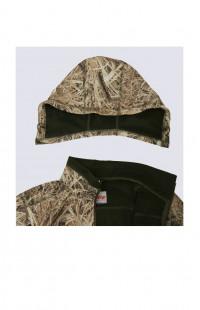 Куртка демисезонная ЗАРЯ софтшелл камуфляж коричневый