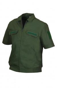 Куртка форменная с коротким рукавом рип-стоп зеленый