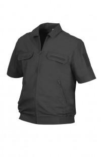 Куртка форменная с коротким рукавом рип-стоп черный