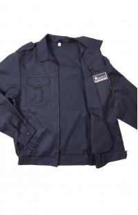 Куртка для охраны смесовая синий глянцевый