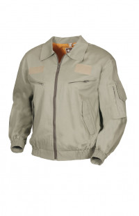 Куртка-ветровка полетная твил бежевый с оранжевой подкладкой