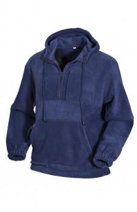 Толстовка флисовая с капюшоном синий