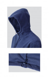 Куртка с капюшоном флис синий