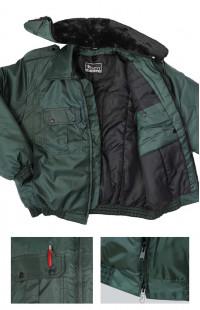 Куртка зимняя укороченная п/а зеленый
