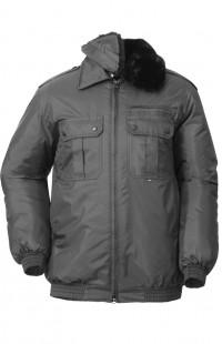 Куртка зимняя укороченная п/а черный