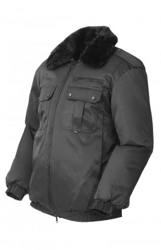 Куртка зимняя смесовая черный распродажа