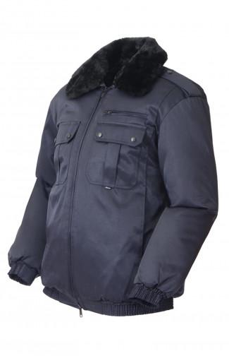 Куртка зимняя смесовая синий распродажа