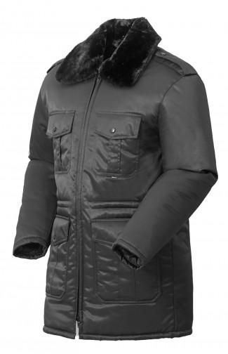Куртка зимняя ОХРАННИК смесовая черный