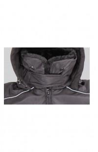 Куртка зимняя укороченная со светоотражающим кантом Дюспо-бондинг черный