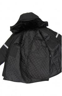Куртка зимняя со светоотражающими полосами Дюспо-бондинг черный