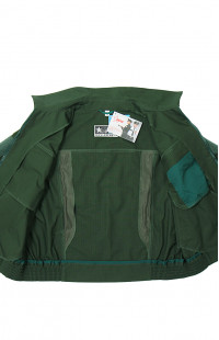7115Ж Куртка женская форменная с коротким рукавом рип-стоп зеленый