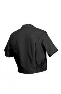 7115Ж Куртка женская форменная с коротким рукавом рип-стоп черный