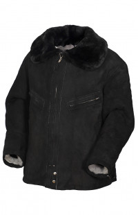 Куртка нагольная из натуральной овчины черный