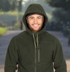 В продажу поступили мужские флисовые куртки с капюшоном