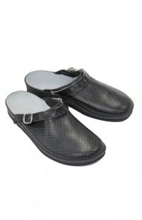 Туфли мужские Сабо кожа черные