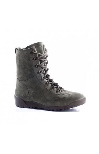 Ботинки штурмовые городского типа велюр олива