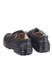 Полуботинки мужские кожаные черные